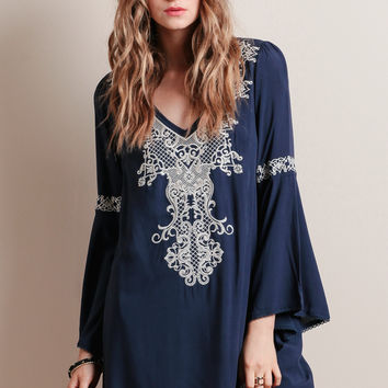 Far Lands Embroidered Dress