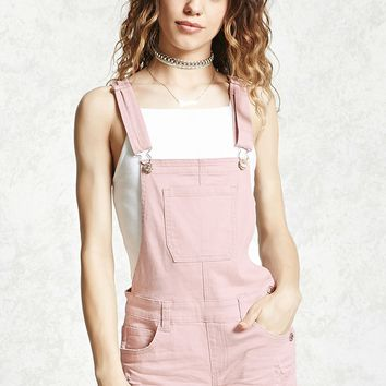 Distressed Overall Shorts