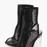 Lara Peeptoe Open Back Clear Shoe Boot