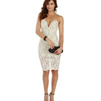 Ivory Dipped in Lace Midi