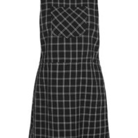 Check Pinafore Dress - Monochrome
