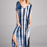 Abigail Tie-Dye Pocket T-Shirt Maxi Dress