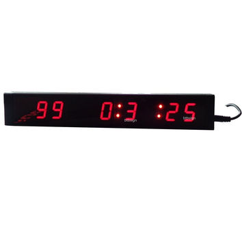 Mini LED Countdown Day Clock Digital Wall Clock Countdown Count Up Event Timer 1'' 9Digits