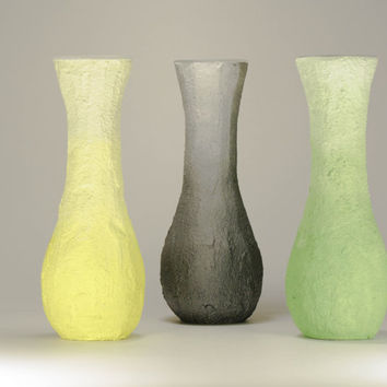 Trio Vase with colored texture to beautify your surrounding or a special gift to someone.