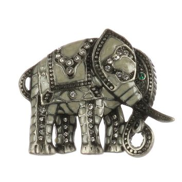 Epoxy Coated Metal Elephant Pin And Brooch 173