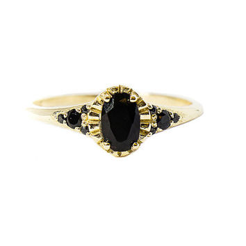 Antique Oval Onyx Ring