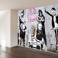 The Literal Old School Wall Mural Decal