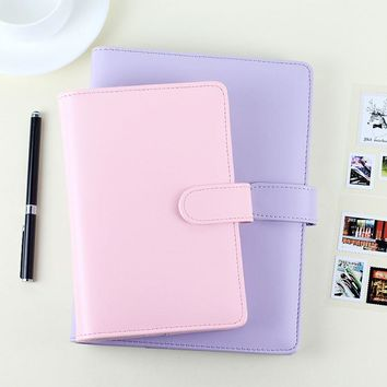 Passion leather spiral notebook Original office personal diary/week planner/agenda organizer Cute ring stationery binder A5 A6