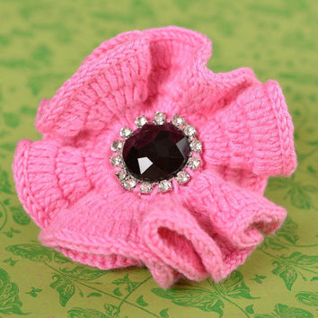 Unusual handmade crochet flower scrunchie designer hair tie how to do my hair