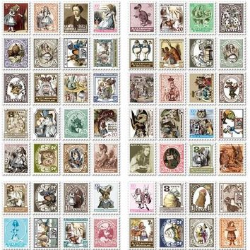 80 pcs/1set vintage Alice Kawaii Paper Scrapbooking Daliy planner stickers post it sticky notes/filofax/Korea Stationery 7321