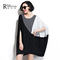 6XL Women Tops Fashion Oversize Women Tee-Shirts Loose and Comfortable Cotton Women's Big Plus Tunic for Ladies(R.Melody DS0019)