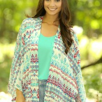Moon River Cardigan-Aqua