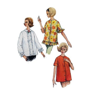 1960s Simplicity 4539 Woman's Maternity Tops Sz 10 || Bust 31in /79cm || Vintage  Sewing Pattern