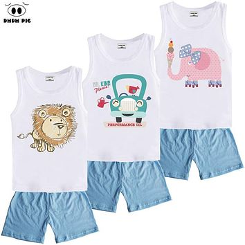 DMDM PIG Boutique Kids Sports Clothes Suit Boys Toddler Girls Clothing Sets Children's Baby Boy Girl Christmas Outfit 3 8 Years