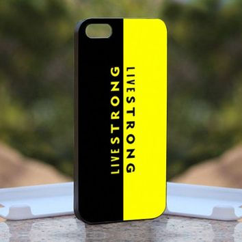 Livestrong Quotes Nike, Print on Hard Cover iPhone 5 Black Case