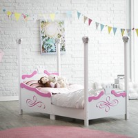 Kidkraft Princess Toddler Bed - Silver | www.hayneedle.com