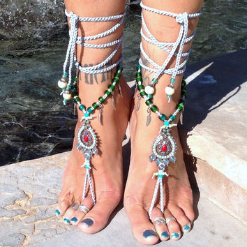 Hemera The Goddess Of Day / Barefoot Sandals By Iris (Small/Indie Brands)