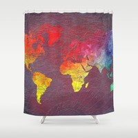 world map Shower Curtain by Jbjart