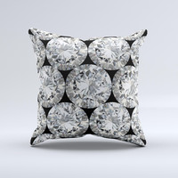 Diamond Pattern ink-Fuzed Decorative Throw Pillow