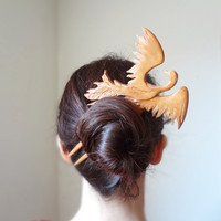 $110.00 Phoenix hair fork by theancientmuse
