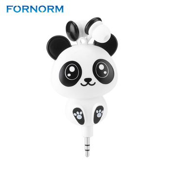 Cute Cartoon Retractable Earphone Wired 3.5MM for Mobile Phone MP3 MP4