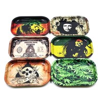 1pc Metal Tobacco Rolling Tray 17cm*13cm*1.8cm Handroller Rolling Trays Rolling Case Machine Tools Tobacco Storage Tray