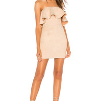 About Us Rebecca Strapless Dress in Nude
