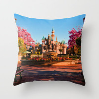 Disney Dream Castle Throw Pillow by Courtney Marie