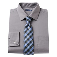 Croft & Barrow Fitted Dress Shirt & Tie Set