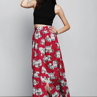 Urban Outfitters - Vintage '50s Puppy Maxi Skirt