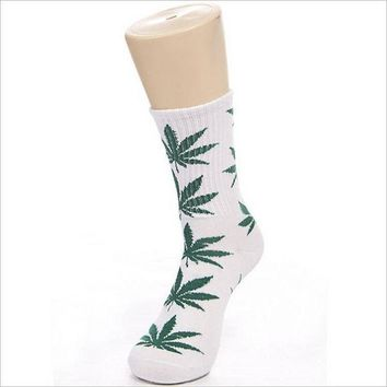 ESBONEJ Leaf  Cotton  Socks