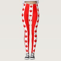 Leggings with flag of Canada