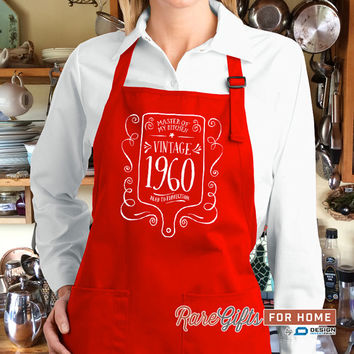 55th Birthday, 1960 Birthday, Full Length Apron, 55th Birthday Idea, 55th Birthday Present, 55th Birthday Gift,  For The Lucky 55 Year Old!