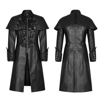 Punk Rave New Rock Gothic Vampire  Steampunk fashion copaly Style Coat Y802BK