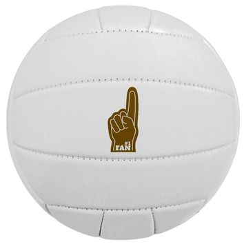 Laser Engraved Synthetic Sports Ball Gift - #1 Fan (Volley Ball)