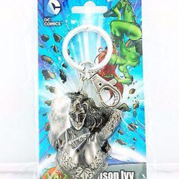 DC Comics Poison Ivy Gray Pewter Keyring Hook