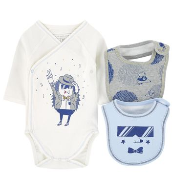 Little Marc Jacobs Baby Boys Romper & Bibs (Gift Set)