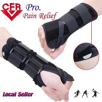 2018 New Carpal Tunnel Medical Wrist Support Brace Support Pads Sprain Forearm 2 Splints Band Strap Protector Safe Drop Shipping