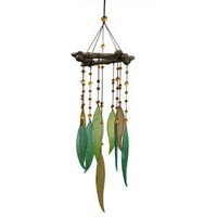 Grasslands Road World Garden Glass Leaves and Beads Windchime/Mobile (Discontinued by Manufacturer)