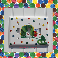 The Very Hungry Caterpillar Double Light Switch Plate