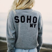 ERICA SOHO NY PATCH SWEATSHIRT