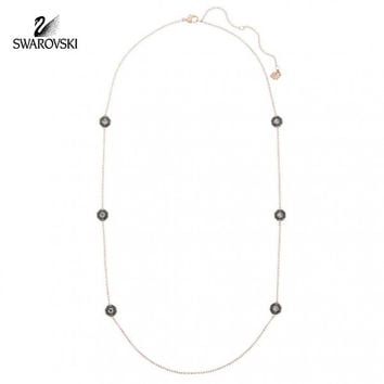Swarovski Dark Color Crystal BODY Necklace Rose Gold #5086155