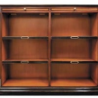 Alchemist's Bookcase - Features Solid Wood Construction in Honey and Black Finish - Includes 2 Hidden Side Panels - Authentic Models MF116