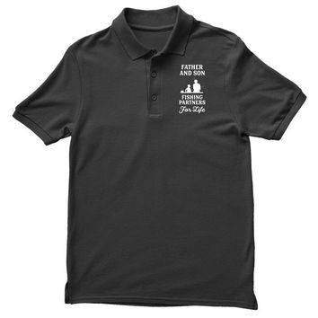 Father and Son Fishing Partners For Life Polo Shirt