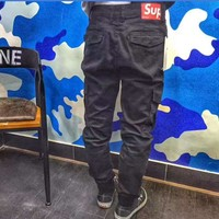 Supreme black long pants trousers H-A-XYCL