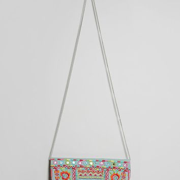 Charade Embroidered Clutch