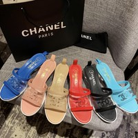 hcxx 2378 19May Candy beach transparent Rubber Outsole slippers Blue