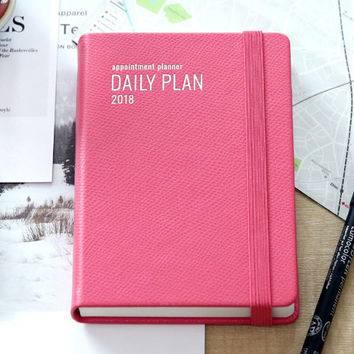 2018 Appointment A6 dated daily planner agenda