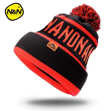 Nandn Winter Snowboard Skiing Skating Warm Knitted Cap Beanies S c9755c139b7e