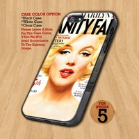 Marilyn Monroe Vanity Fair - Design on Hard Case For iPhone 5 Case